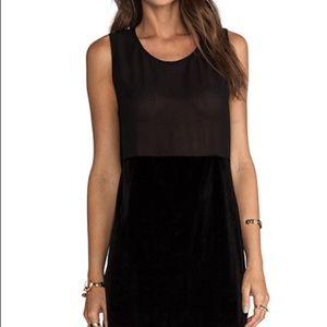 Show me your mumu black velvet mini dress